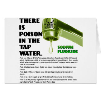 THERE IS POISON IN THE TAP WATER! GREETING CARD
