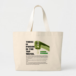 THERE IS POISON IN THE TAP WATER! JUMBO TOTE BAG