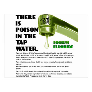 THERE IS POISON IN THE TAP WATER! POST CARD