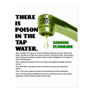 THERE IS POISON IN THE TAP WATER! POSTCARDS