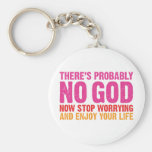 There Is Probably No God Keychain