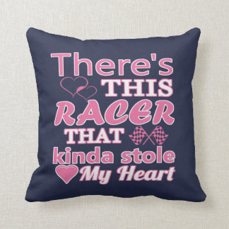 There is this racer that stole my heart throw pillow