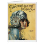 There Must Be A Way To Love You Vintage Songbook C Card