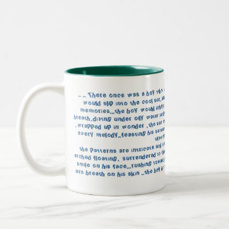 .. .. There once was a boy who would swim with... Two-Tone Coffee Mug