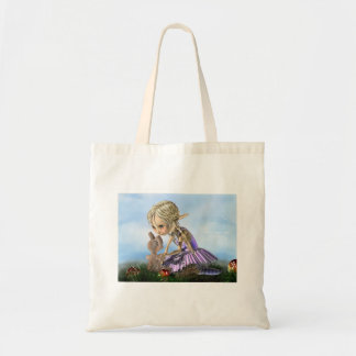 there once was a bunny canvas bag