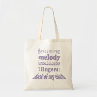 There s a misterious melody… tote bags