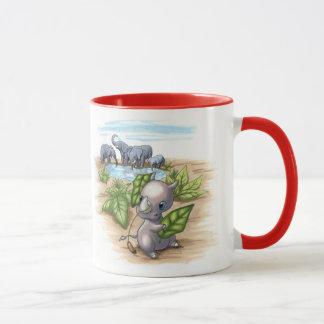There's a New Rhino in Town Elephant Disguise Mug