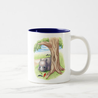 There's a New Rhino in Town Feather Costume Mug