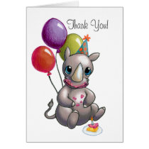 There's a New Rhino in Town Greeting Card