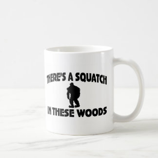 There's A Squatch In These Woods Classic White Coffee Mug