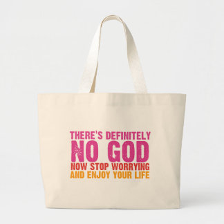 There s Definitely No God Vertical Canvas Bags