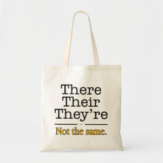 There, Their and They're. Budget Tote Bag