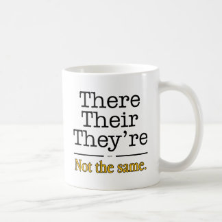 There, Their and They're. Coffee Mug