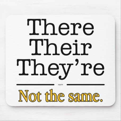 There, Their And They're Mouse Pad Zazzle