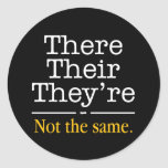 There, Their and They're. Sticker