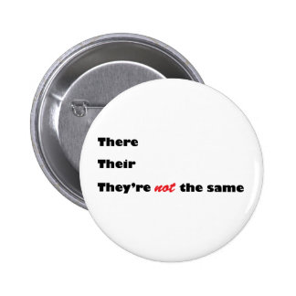 There Their They're Pinback Buttons