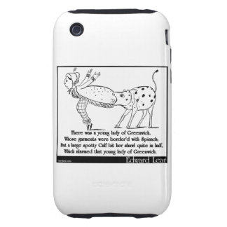 There was a young lady of Greenwich Tough iPhone 3 Cases