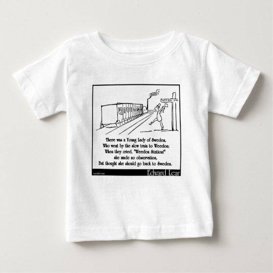 There was a Young Lady of Sweden Baby T-Shirt