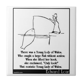 There was a Young Lady of Wales Ceramic Tiles