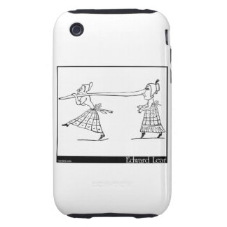 There was a Young Lady whose nose iPhone 3 Tough Cover