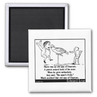 There was an old man of Dunrose 2 Inch Square Magnet