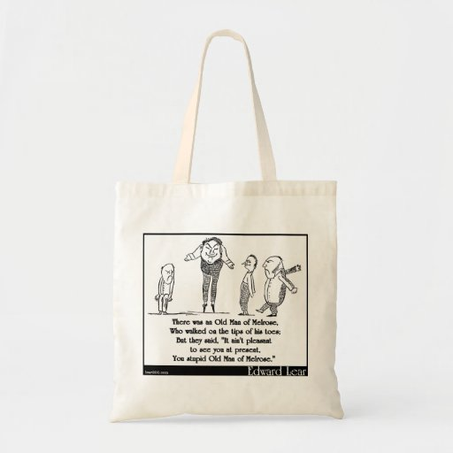 There was an Old Man of Melrose Canvas Bags