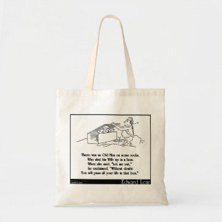 There was an Old Man on some rocks Tote Bag