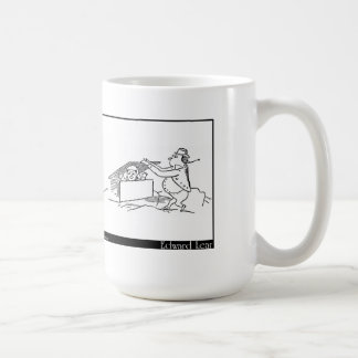There was an Old Man on some rocks Coffee Mug