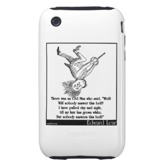 """There was an Old Man who said, """"Well! Tough iPhone 3 Case"""