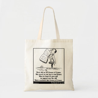 There was an old Person of Cromer Canvas Bags