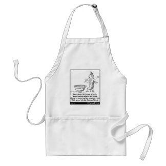 There was an Old Person of Leeds Adult Apron