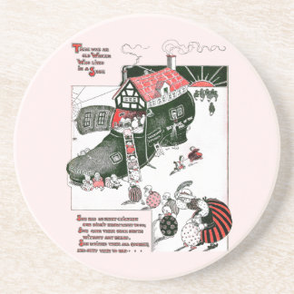 There Was an Old Woman Nursery Rhyme Coasters