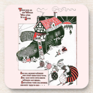 There Was an Old Woman Nursery Rhyme Drink Coaster