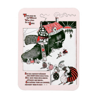 There Was an Old Woman Nursery Rhyme Magnet