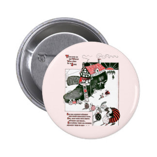 There Was an Old Woman Nursery Rhyme Pinback Button