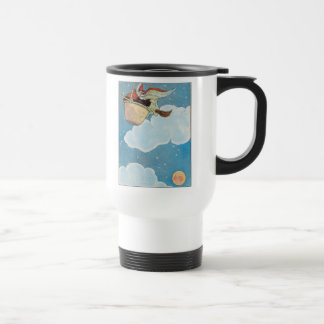 There was an old woman tossed in a basket, 15 oz stainless steel travel mug