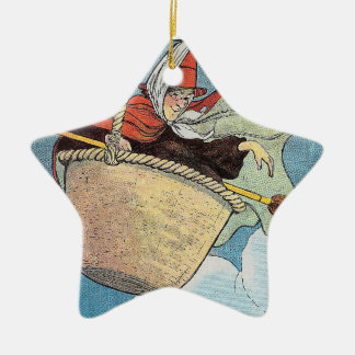 There was an old woman tossed in a basket, ceramic ornament