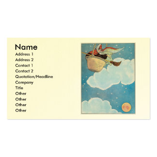 There was an old woman tossed in a basket, Double-Sided standard business cards (Pack of 100)