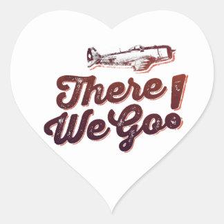 There We Go! Retro Fighter Plane - Trendium Retro Heart Sticker