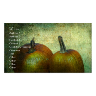 There Were Never Such Devoted Pumpkins Double-Sided Standard Business Cards (Pack Of 100)