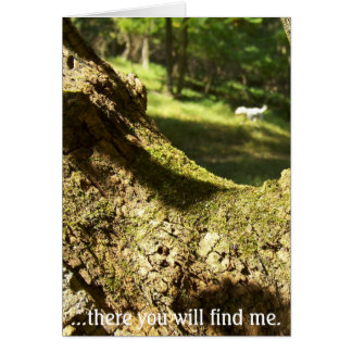 There you will find me greeting card