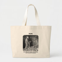 thered-better-be-a-light-at-the-end-of large tote bag