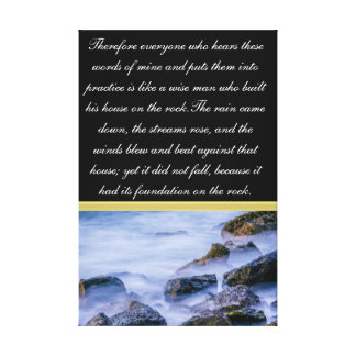 Therefore everyone who hears these words canvas print