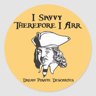 Therefore I Arr Classic Round Sticker