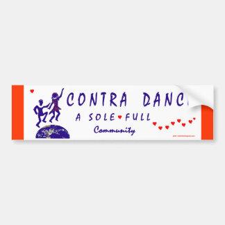Therefore I Contra Dance Bumper Sticker