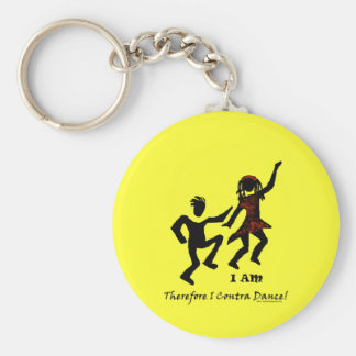 Therefore I Contra Dance Keychain
