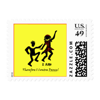 Therefore I Contra Dance Stamps