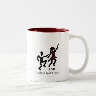 Therefore I Contra Dance Two-Tone Coffee Mug