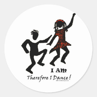 Therefore I Dance Classic Round Sticker