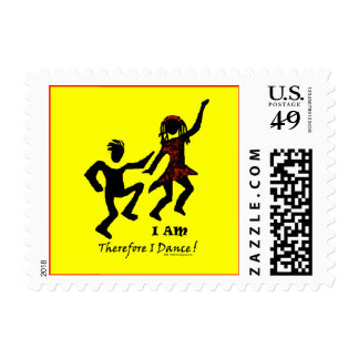 Therefore I Dance Postage Stamp